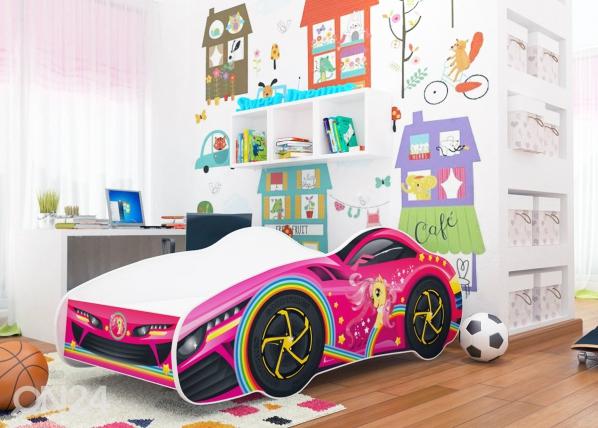 Lasten sänky Girl Car 70x140 cm TF-150010