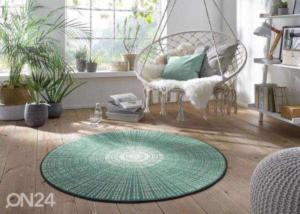 Pyöreä matto Cascara salvia A5-152064