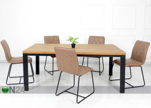 Ruokapöytä Aaron 200x90 cm AQ-152725