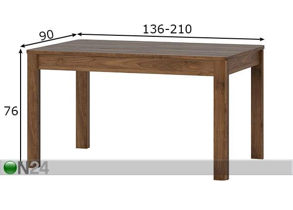 pikendatav s gilaud 90x136 210 cm ft 152910 on24 sisustuskaubamaja. Black Bedroom Furniture Sets. Home Design Ideas
