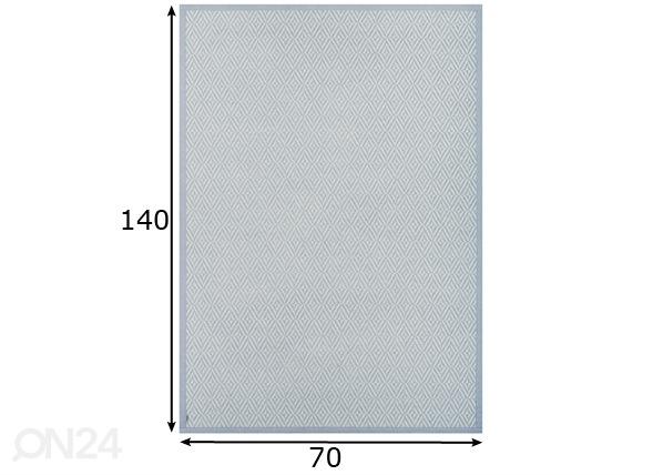 Narma smartWeave® matto PÜHA silver 70x140 cm NA-154943