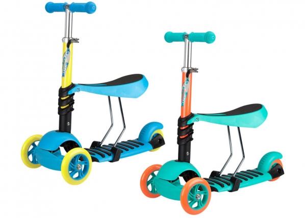Laste tõukeratas 3-rattaga reguleeritava istmega Tri-Surfer Nijdam TC-155360