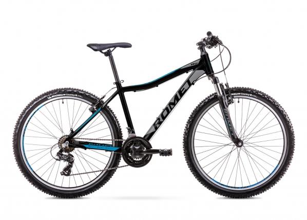Nuorten maastopyörä 17 M Rower ROMET RAMBLER R6.1 JR musta-sininen TC-155945
