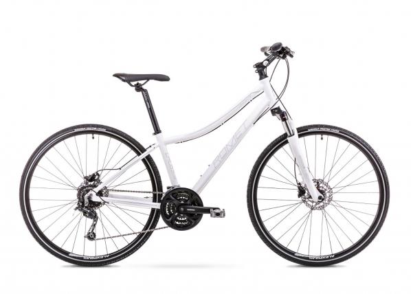 Naisten hybridipyörä 15 S Rower ROMET ORKAN 4 D valkoinen TC-155982