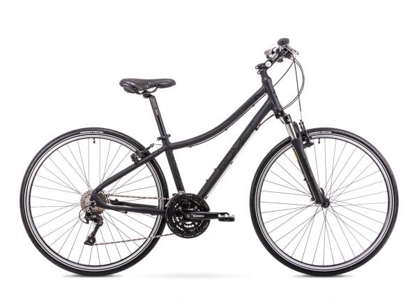 Naisten polkupyörä 15 S Rower ROMET ORKAN 5 D mattamusta TC-156074