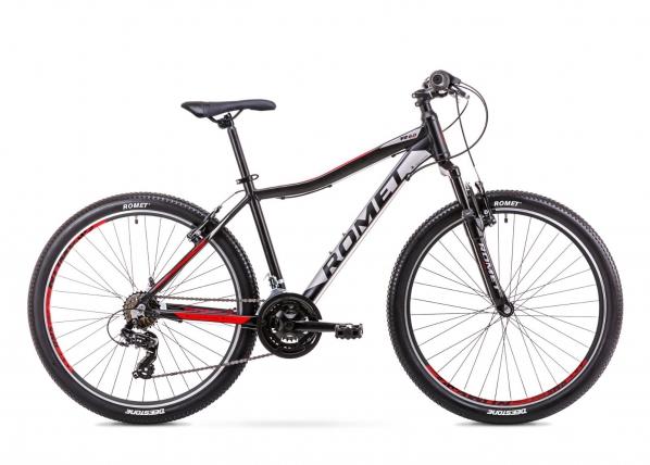 Nuorten maastopyörä 7 M Rower ROMET RAMBLER R6.0 JR musta-punainen TC-156113