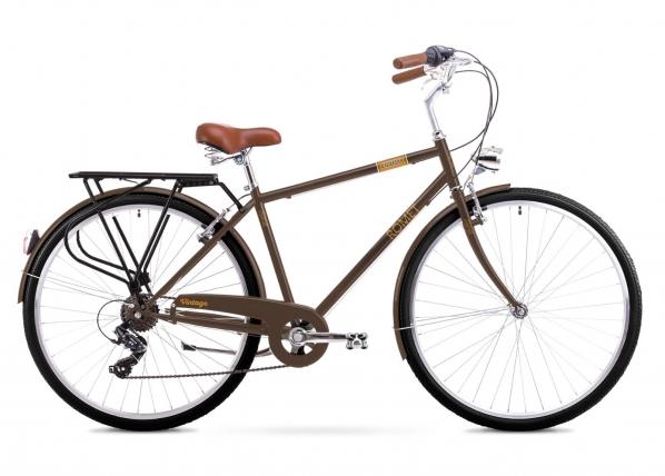 Miesten kaupunkipyörä 20 XL Rower ROMET VINTAGE M ruskea TC-156193
