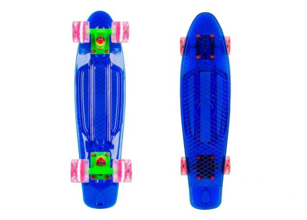 """Rula Penny Board WORKER Transpy 400 22"""" with Light Up Wheels TC-156506"""