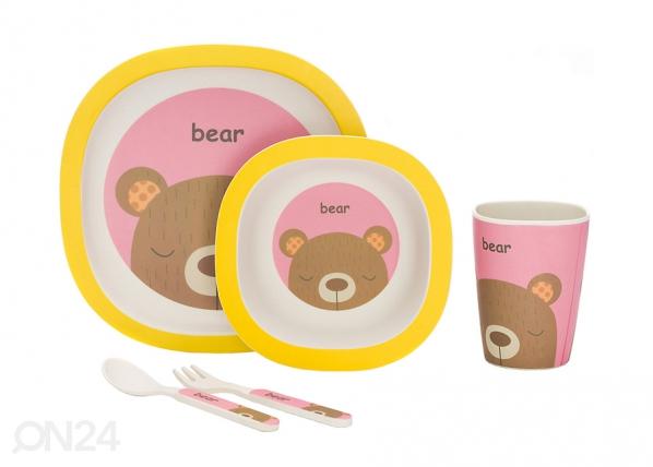 Комплект посуды из бамбука Мишка UP-167068