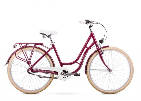 Naisten kaupunkipyörä 18 M Rower ROMET TURING 3S TC-168175