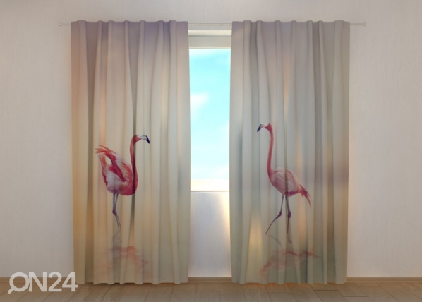 Puolipimentävä verho Pink Flamingoes at Sunset 240x220 cm ED-168940