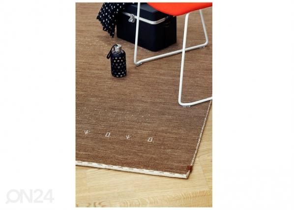 Narma käsinkudottu villamatto Tornio brown 140x200 cm NA-182232