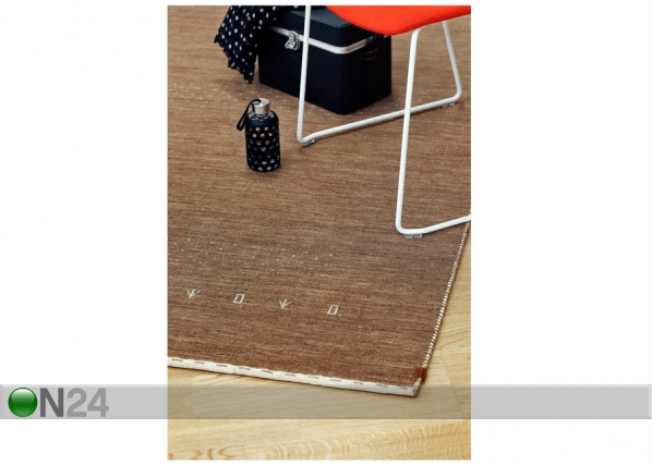 Narma käsinkudottu villamatto Tornio brown NA-182234