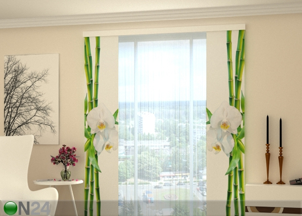 Läbipaistev paneelkardin Bamboo and white orchid 80x240 cm ON-183457