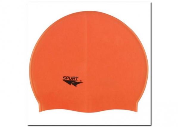 Ujumismüts silikonist SPURT G503 oranž TC-183842