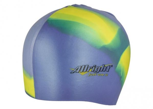 Ujumismüts Allright silikoonist sinine kollane TC-185392