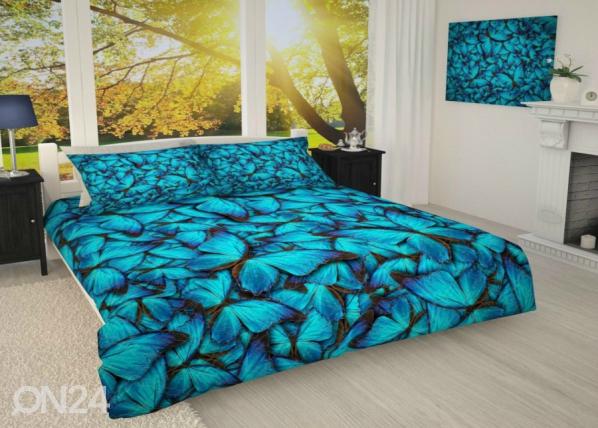Päiväpeitto Siniset perhoset 215x240 cm AÄ-187130