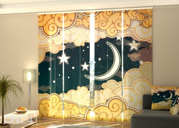 Puolipimentävä paneeliverho Cartoon style night sky 240x240 cm ED-189438