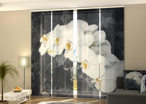 Полузатемняющая панельная штора Fresh Orchids on a Stone 240x240 см ED-189441