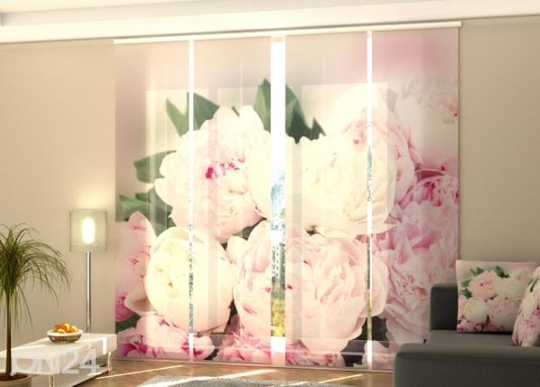 Полузатемняющая панельная штора Fresh Pink Peonies 240x240 см ED-189444