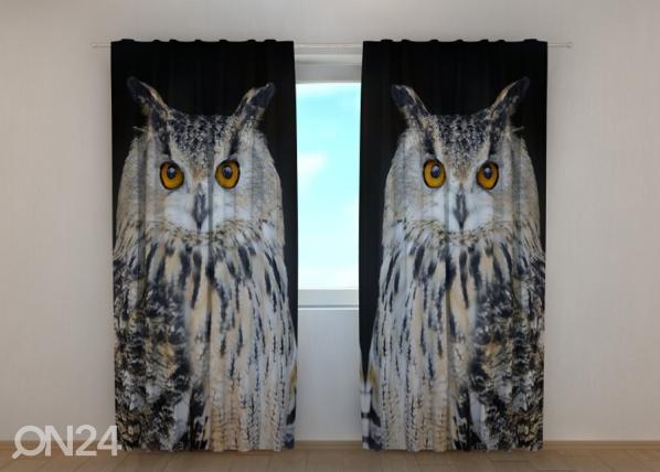 Puolipimentävä verho Attentive Owl ED-189474