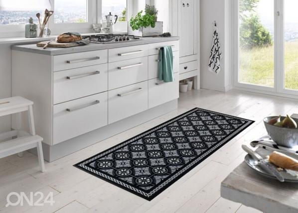 Vaip Kitchen Tiles black A5-191004