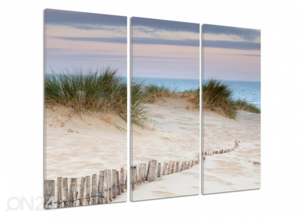 Kolmeosaline seinapilt Fenced dunes 3D ED-194535