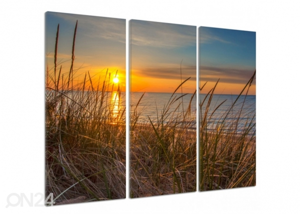 Kolmeosaline seinapilt Sunset over the dunes 3D ED-194546