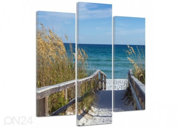 Kolmeosaline seinapilt The road to the beach 2 3D ED-194557