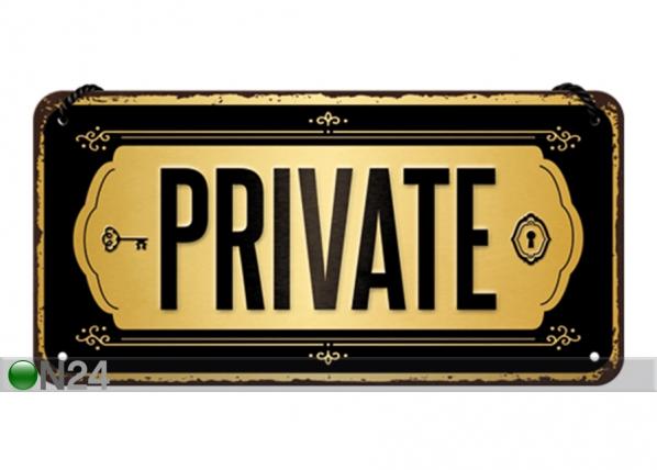 Retro metallijuliste Private 10x20 cm SG-194930
