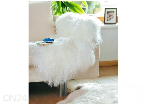 Naturaalne lambanahk Mongolian white 60x90 cm NA-195024