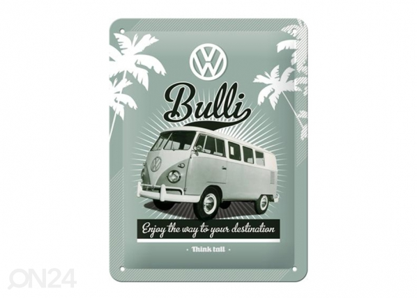 Retro metallposter VW Bulli 15x20 cm SG-195081