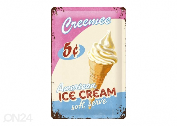 Retro metallposter Ice Cream 20x30 cm SG-195095
