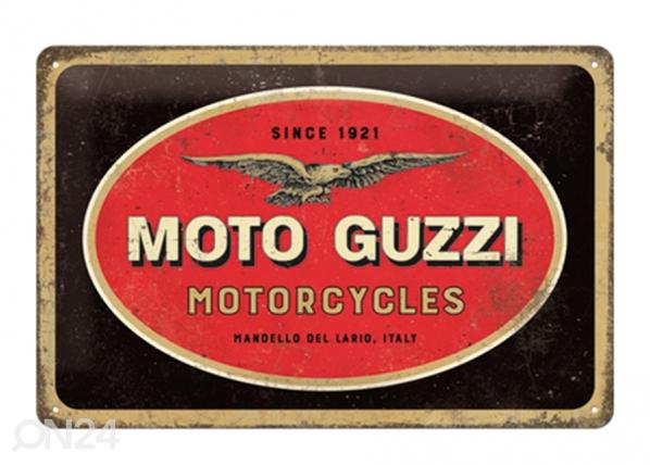 Металлический постер в ретро-стиле Moto Guzzi logo 20x30 см SG-195100