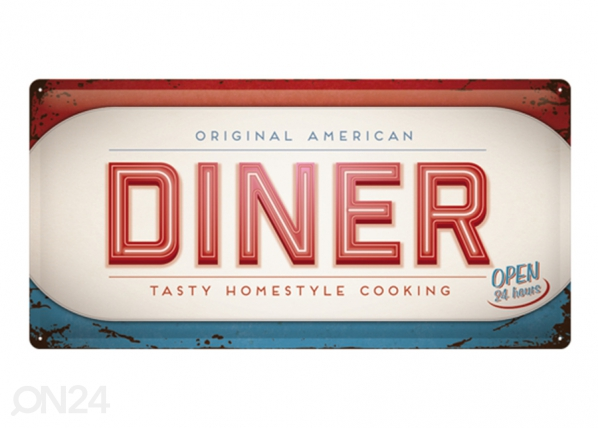 Retro metallposter Diner 25x50 cm SG-195186