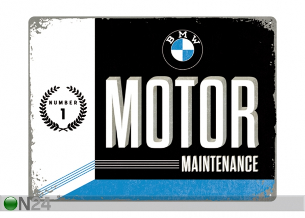 Retro metallposter BMW Motor Maintenance 30x40 cm SG-195240