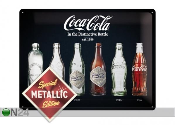 Retro metallposter Coca-Cola In the Distinctive Bottle Metallic 30x40 cm SG-195246