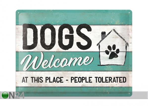 Retro metallposter Dogs Welcome 30x40 cm SG-195249