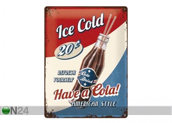 Retro metallposter Have a Cola! 30x40 cm SG-195268