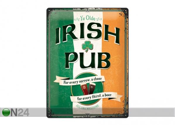 Retro metallposter Irish Pub 30x40 cm SG-195269