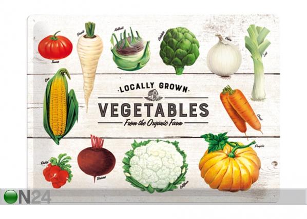 Retro metallposter Locally Grown Vegetables 30x40 cm SG-195272