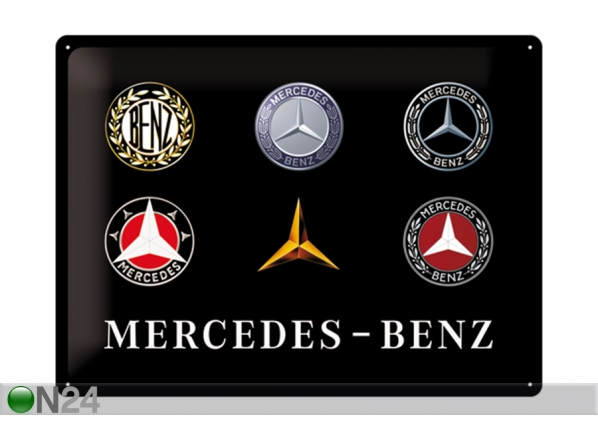 Металлический постер в ретро-стиле Mercedes-Benz logo 30x40 см SG-195279