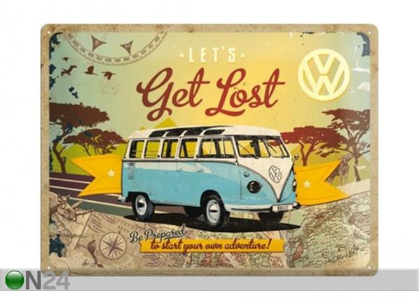 Retro metallposter VW Let's get lost 30x40 cm SG-195297