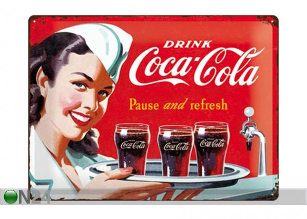 Retro metallposter Coca-Cola Pause and refresh 30x40 cm SG-195339