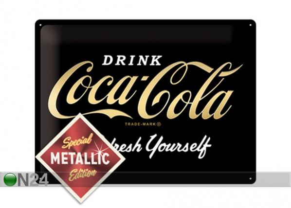 Retro metallposter Coca-Cola Refresh Yourself Metallic 30x40 cm SG-195345