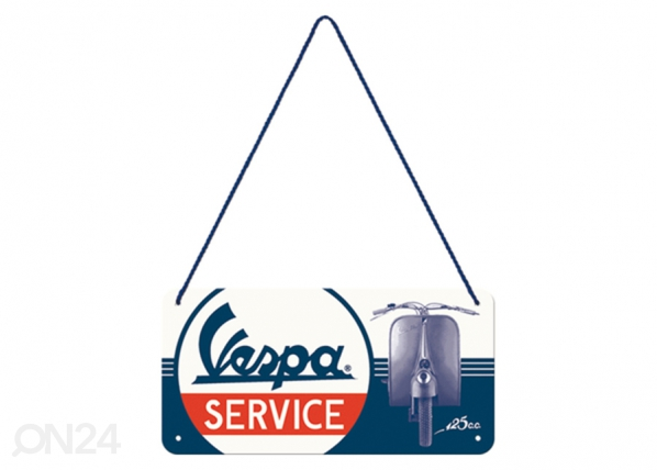 Retro metallposter Vespa Service 10x20 cm SG-196803