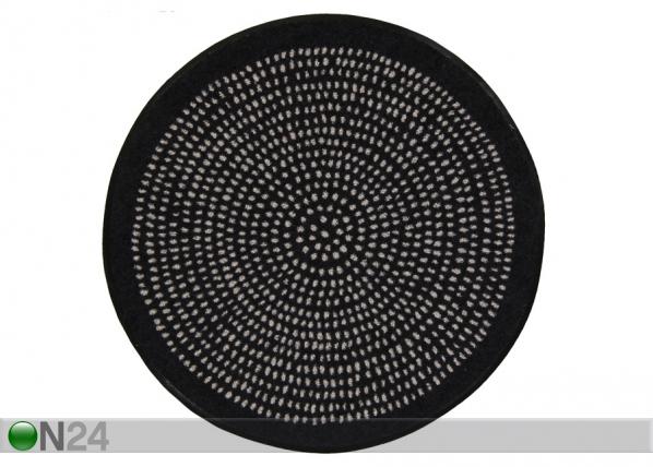 Pyöreä matto Nestor black Ø 65 cm A5-203959
