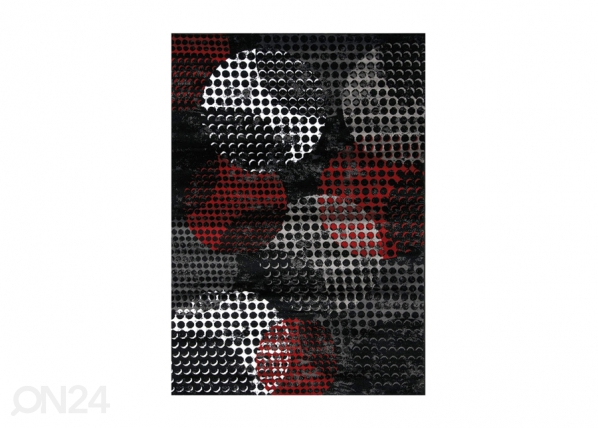 Vaip Carnegie Black Red A5-212845
