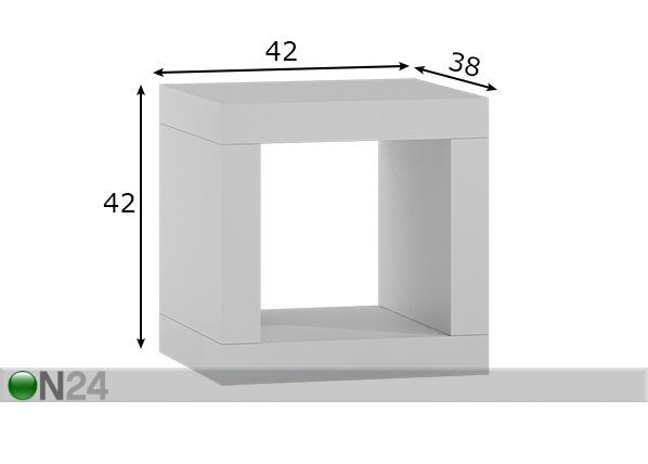Hylly / yöpöytä 42x42 cm FP-217290
