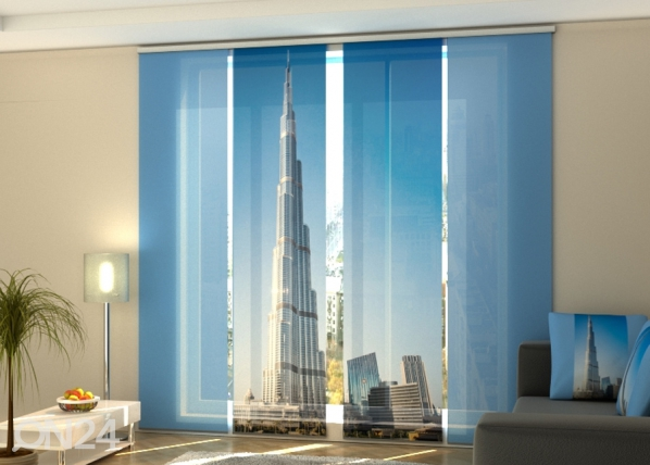 Pimentävä paneeliverho Dubai skyscraper 240x240 cm ED-218093